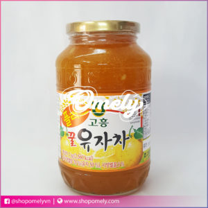 Mật ong chanh đào Hàn Quốc